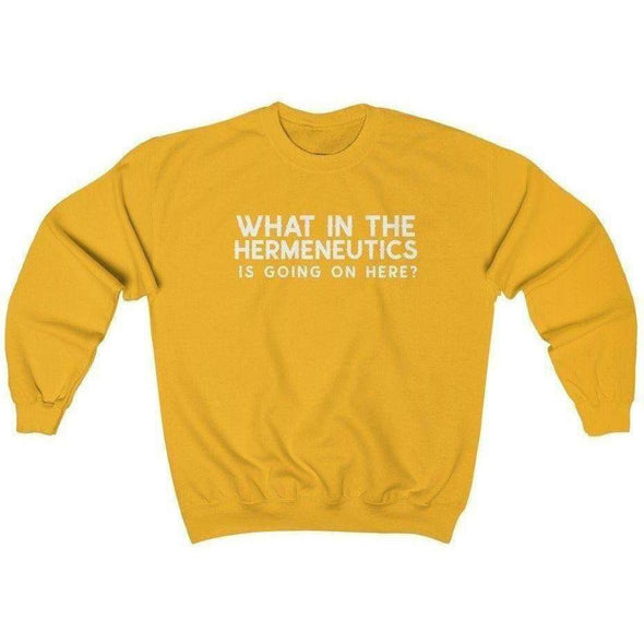 Honest Youth Pastor Hermeneutics Crewneck Sweatshirt