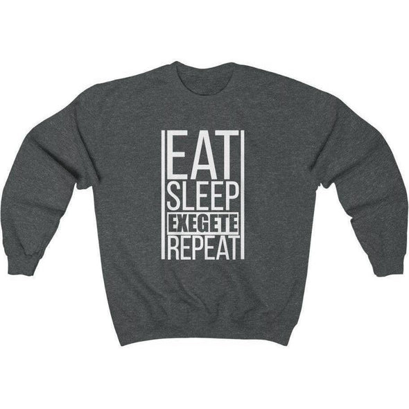 Honest Youth Pastor Exegete Repeat Crewneck Sweatshirt