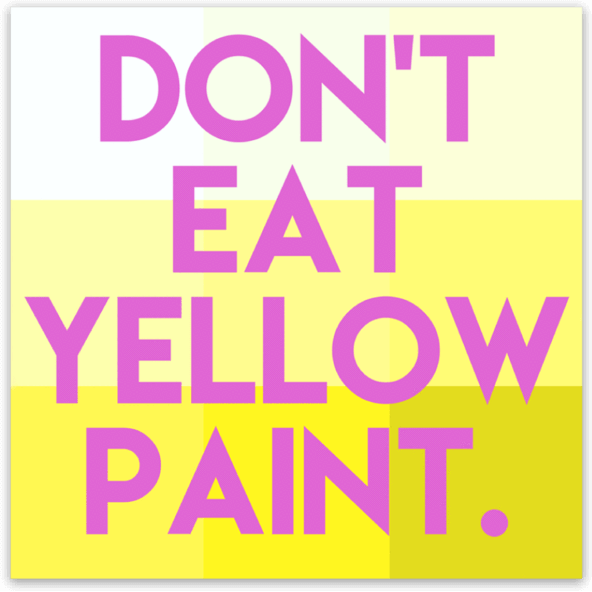 Yellow Paint Sticker