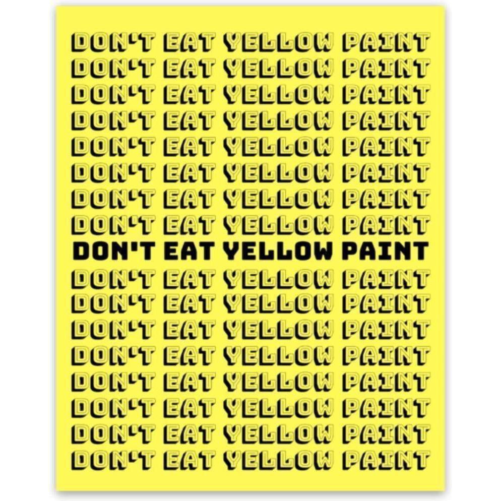 Yellow Paint Sticker 3
