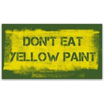 Yellow Paint (Green BG) Sticker