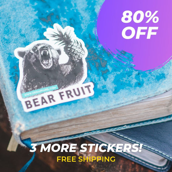 3 Bear Fruit Stickers