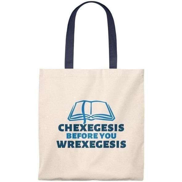 Back Row Chexegesis Tote