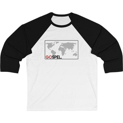 GOspel World Map Baseball T-Shirt