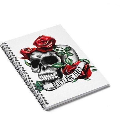 Beauty for Ashes Skull Spiral Journal