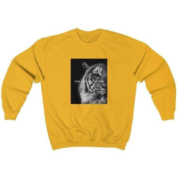 Jesus Loves The Tiger King Crewneck Sweatshirt