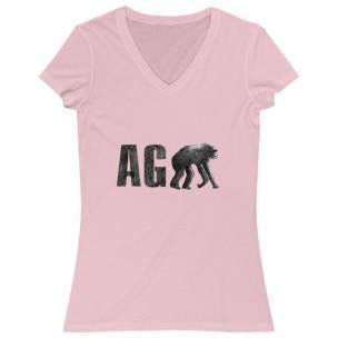 Agape Women's V-Neck Pink M
