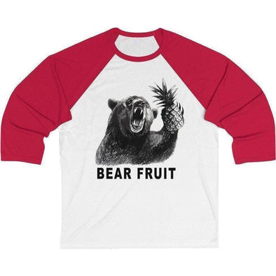 Bear Fruit Baseball Tee Red/White S