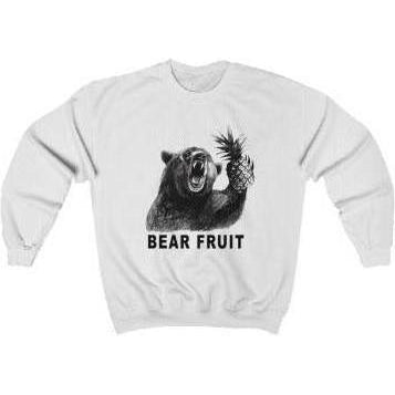 Bear Fruit Crewneck Sweatshirt White S