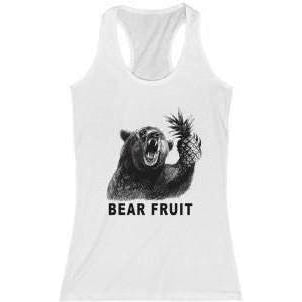 Bear Fruit Women's Racerback White M