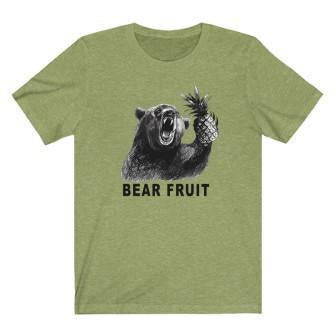 Bear Fruit T-Shirt Heather Green XL