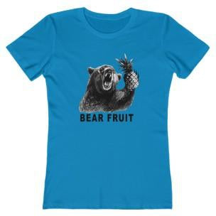 Bear Fruit Women's T-Shirt Aqua Triblend L