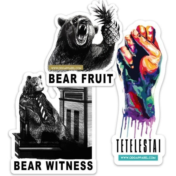 Bear Fruit + Tetelestai + Bear Witness Sticker Bundle