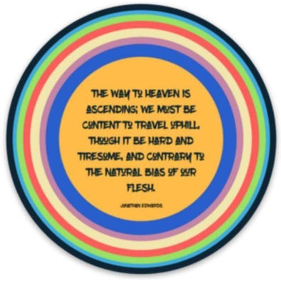 Jonathan Edwards Quote Sticker