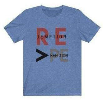 REdemption > PErfection T-Shirt Heather Columbia Blue 2XL