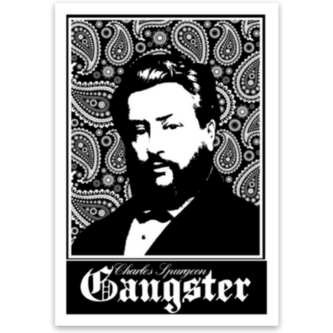 Charles Spurgeon Gangster Sticker