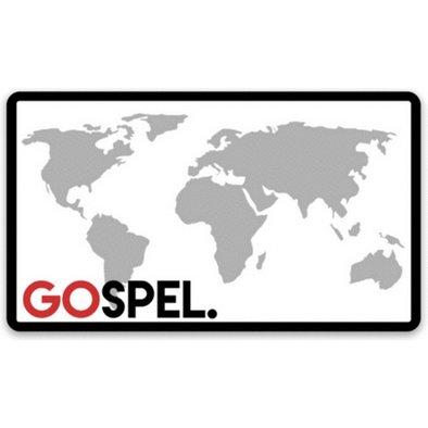 GOspel World Map Sticker