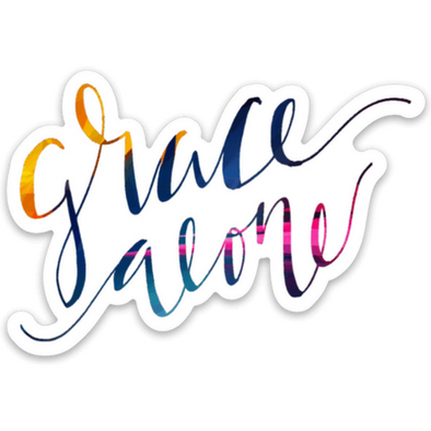 Grace Alone Sticker