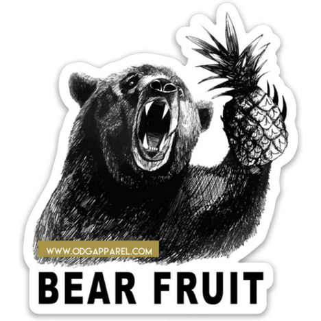 Bear Fruit Sticker