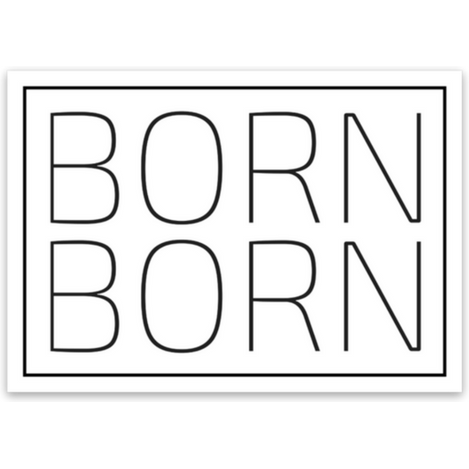 Born 2x Sticker