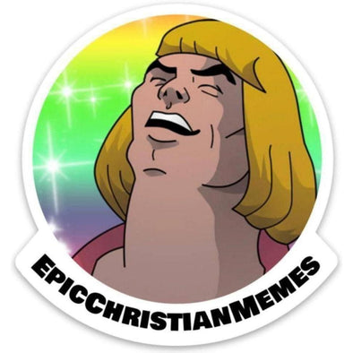 Epic Christian Memes 2 Sticker