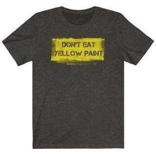Yellow Paint T-Shirt Black 2XL