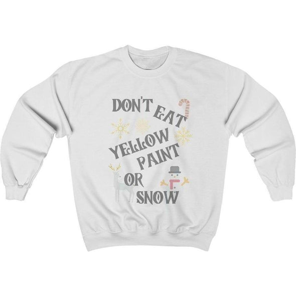Ugly Sweater Yellow Paint Crewneck Sweatshirt