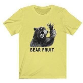Bear Fruit T-Shirt Yellow S