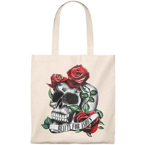 Beauty for Ashes Skull Tote
