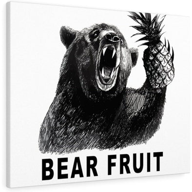 Bear Fruit Canvas - White