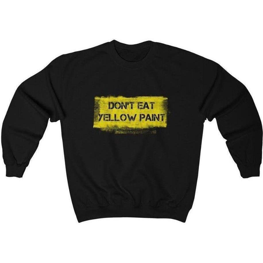 Yellow Paint Crewneck Sweatshirt