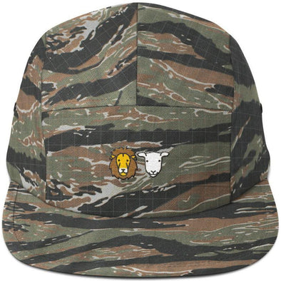 Lion and Lamb Five Panel Hat