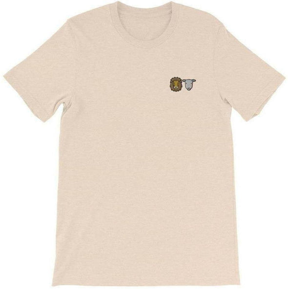 Lion + Lamb Embroidered T-Shirt