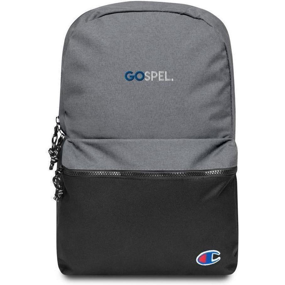 GOspel Embroidered Champion Backpack