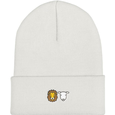 Lion and Lamb Knit Beanie