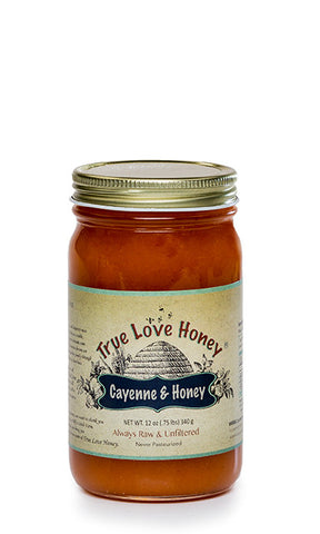 Cayenne and Honey (Half Pint Jar) FREE SHIPPING!!!