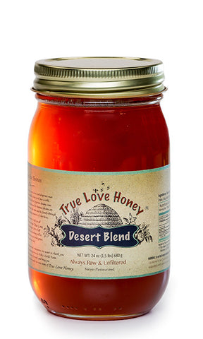 Raw Desert Blend Honey with FREE SHIPPING in the USA