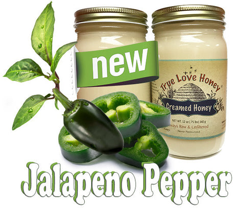 Creamed Jalapeño Honey (8oz jars) with FREE SHIPPING in the USA