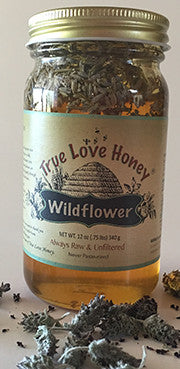 Lavender and wildflower Honey (Half Pint Jar) FREE SHIPPING!!!