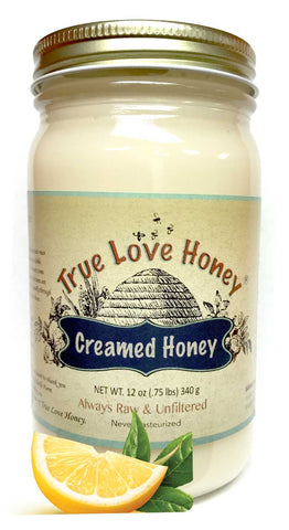 Creamed Lemon Honey (8oz jars) with FREE SHIPPING in the USA
