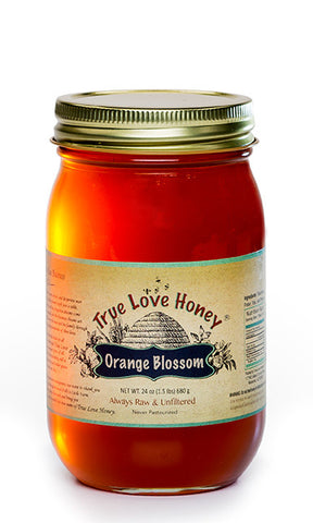 Raw Orange Blossom Honey with FREE SHIPPING in the USA