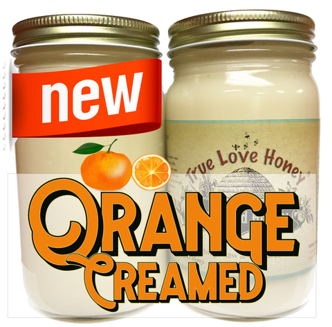 Orange Creamed Honey (8oz jars) with FREE SHIPPING in the USA
