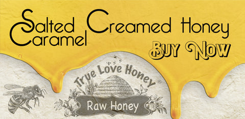 Salted Caramel Creamed Honey (3 eight ounce jars)