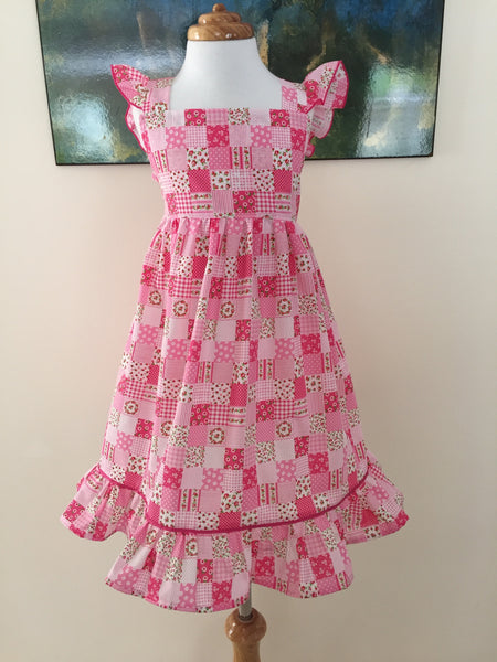 Patchwork Pink with Flutter Sleeve