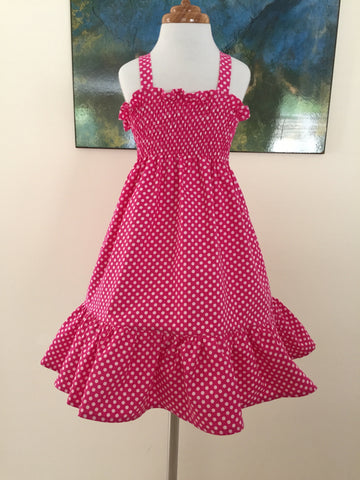 Pink and White Spot Sundress