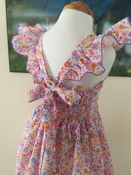 Pretty Soft Floral with Flutter Sleeve