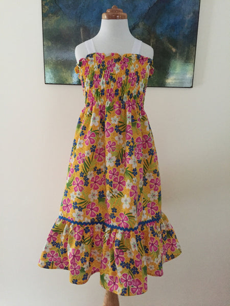 Yellow Floral Sundress