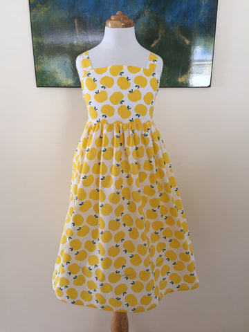 Classic Sundress in Yellow Apples