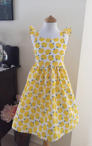 Apples in Yellow with Flutter Sleeve