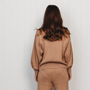 Woman - Organic Rib Knit Sweater - Sirocco